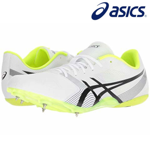 Sepatu Atletik Asics Hypersprint 6 White/Black/Yellow