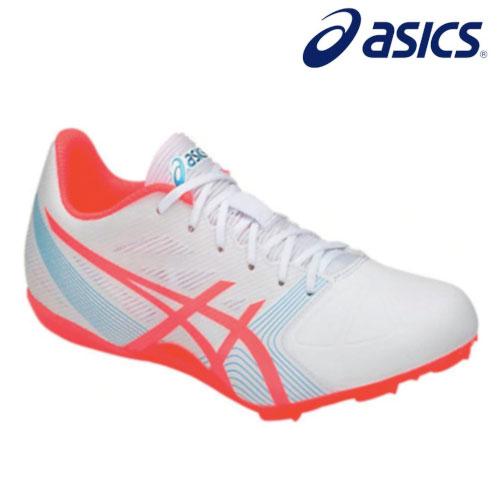 Sepatu Atletik Asics Hypersprint 6 White/Coral/Islandblue