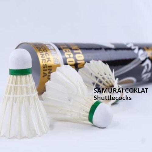 Shuttlecock Badminton/Bulutangkis Samurai Coklat